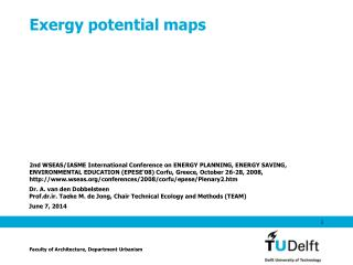 Exergy potential maps