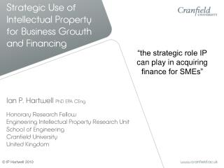Strategic Use of Intellectual Property for Business Growth and Financing