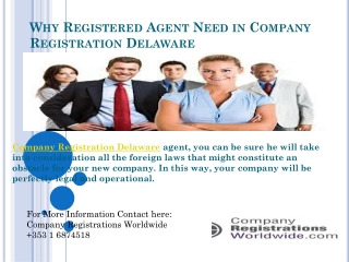 Why Registered Agent Need in Company Registration Delaware