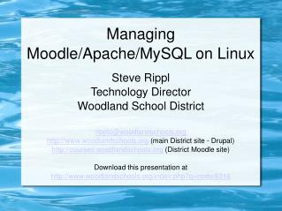 Managing Moodle/Apache/MySQL on Linux