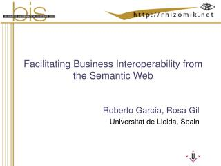 Facilitating Business Interoperability from the Semantic Web