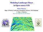 Modeling fluxes in GIS