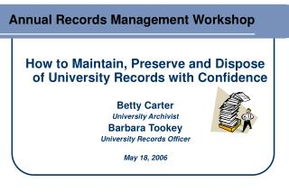 Annual Records Management Workshop