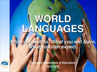 WORLD LANGUAGES What you will do. What you will learn.  What you can expect.