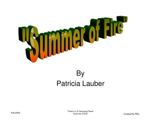 By Patricia Lauber