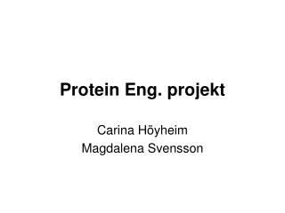 Protein Eng. projekt