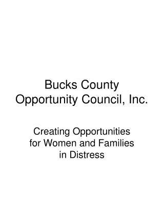 Bucks County Opportunity Council, Inc.