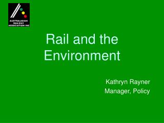 Rail and the Environment