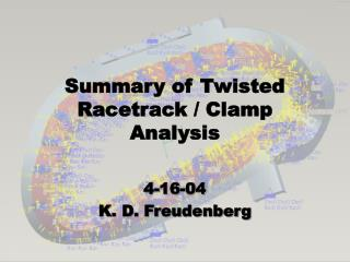 Summary of Twisted Racetrack / Clamp Analysis