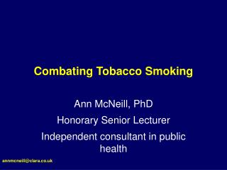 Combating Tobacco Smoking