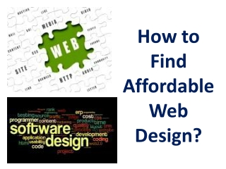 How to Find Affordable Web Design?