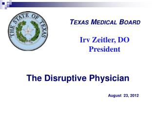 The Disruptive Physician