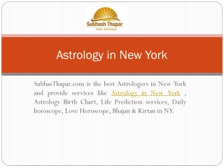 Subhashthapar A Vadic Astrologer in NY