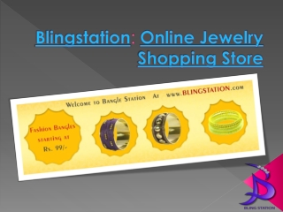 Blingstation: Online Jewelry Shopping Store
