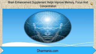 Brain Enhancement Supplement Helps Improve Memory,
