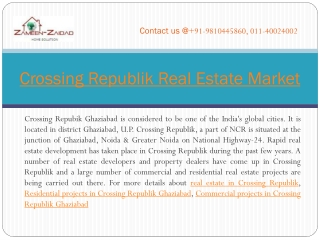Crossing Republik Real Estate Market