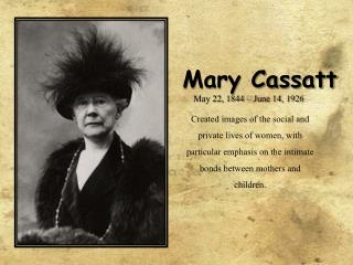 mary cassatt:  her works of art