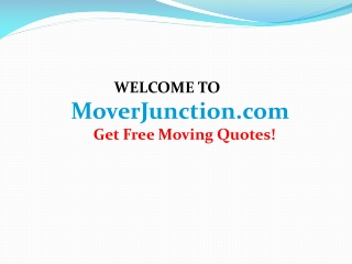 Different Kinds of Moving Services