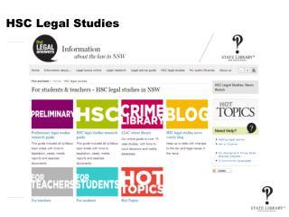 HSC Legal Studies