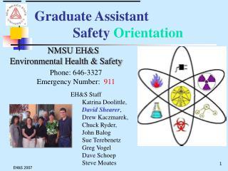 Graduate Assistant Safety Orientation