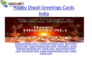 Happy Diwali Greetings Cards India