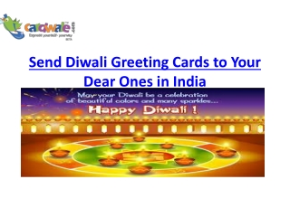 Send Diwali Greeting Cards to Your Dear Ones in India