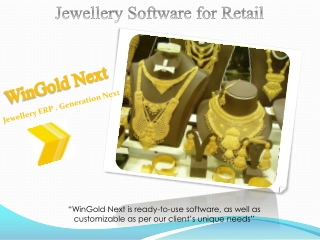 Jewellery Software for Retail