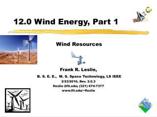 12.0 Wind Energy, Part 1