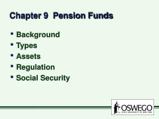 Chapter 9  Pension Funds