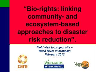 Bio-rights: linking community- and ecosystem-based approaches to disaster risk reduction .