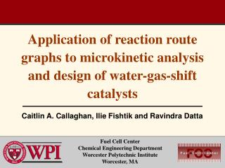 Application of reaction route graphs to microkinetic analysis and design of water-gas-shift catalysts
