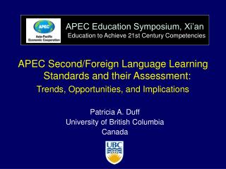 APEC Education Symposium, Xi'an Education to Achieve 21st Century Competencies
