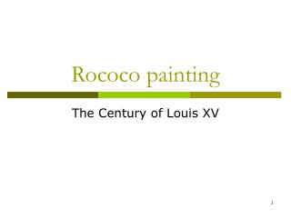 Rococo painting