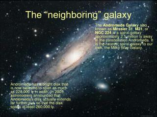 "The ""neighboring"" galaxy"