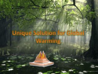 Unique Solution for Global Warming