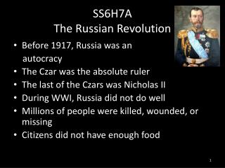 SS6H7A The Russian Revolution