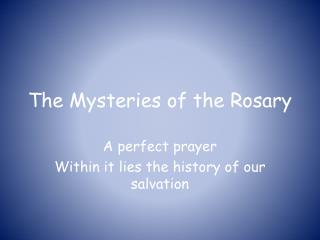 The Mysteries of the Rosary