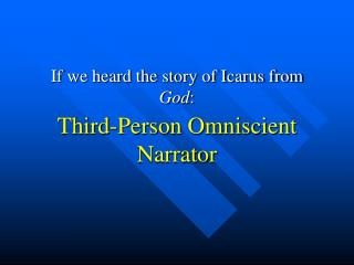 If we heard the story of Icarus from  God :