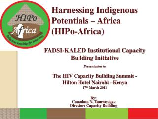 Harnessing Indigenous Potentials – Africa (HIPo-Africa)