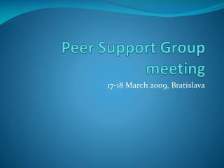 Peer Support Group meeting