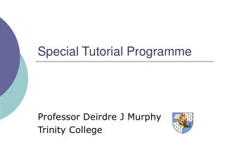 Special Tutorial Programme