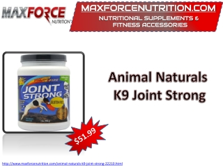 Animal Naturals K9 Joint Strong