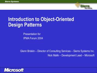 Introduction to Object-Oriented Design Patterns