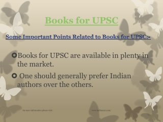 Are you looking for Books for UPSC