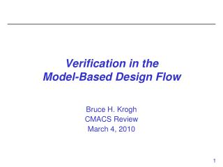 Verification in the 