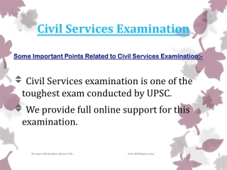 Guidence about Civil Services Examination