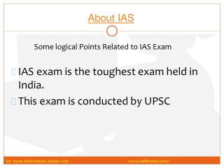 All you need to know about IAS exam
