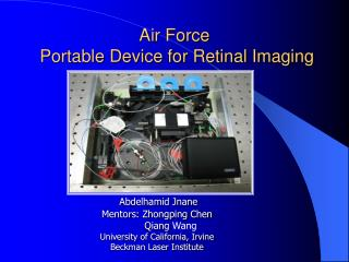 Air Force   Portable Device for Retinal Imaging