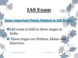 New Points about IAS Exam