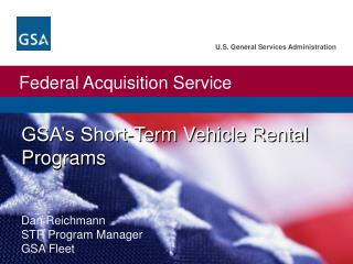 GSA's Short-Term Vehicle Rental Programs